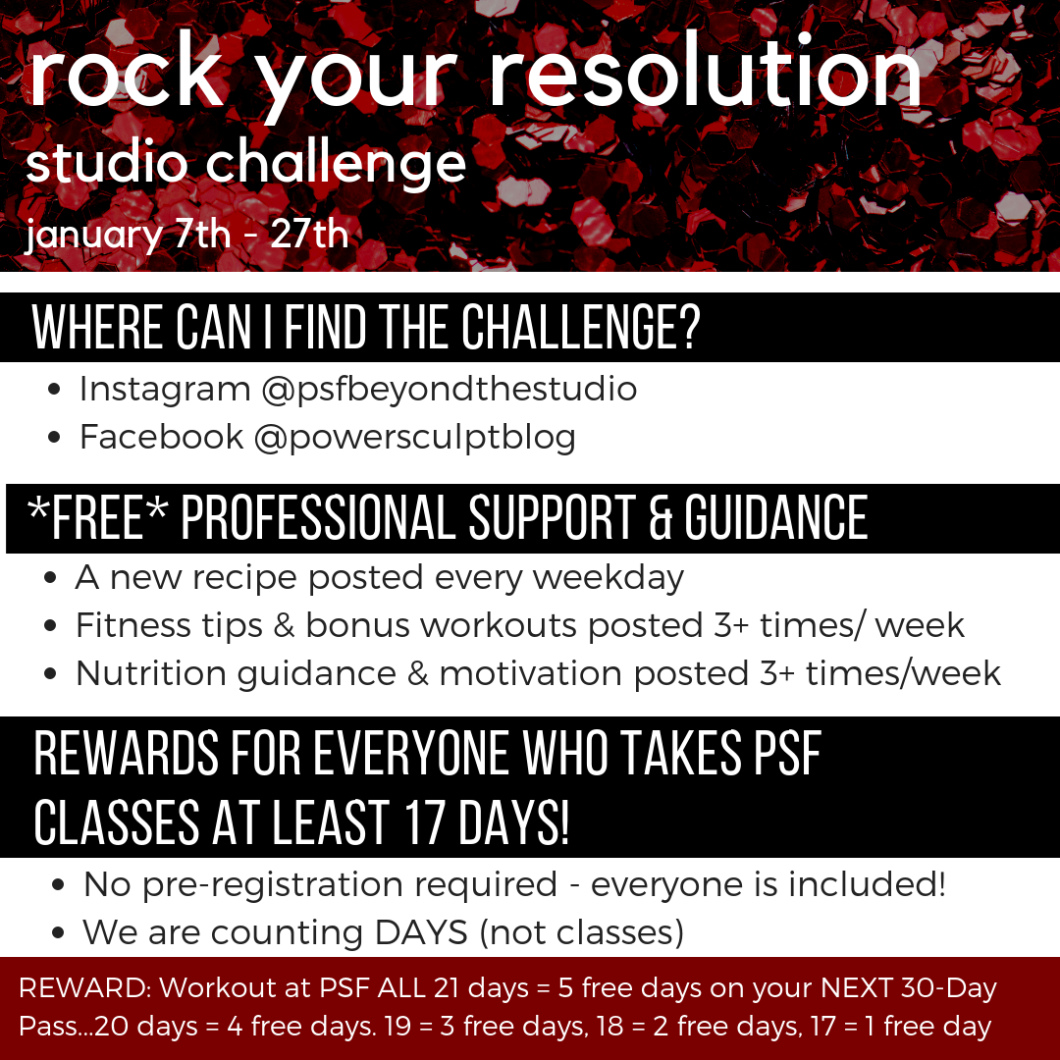 rock your resolution studio challenge 2019 details
